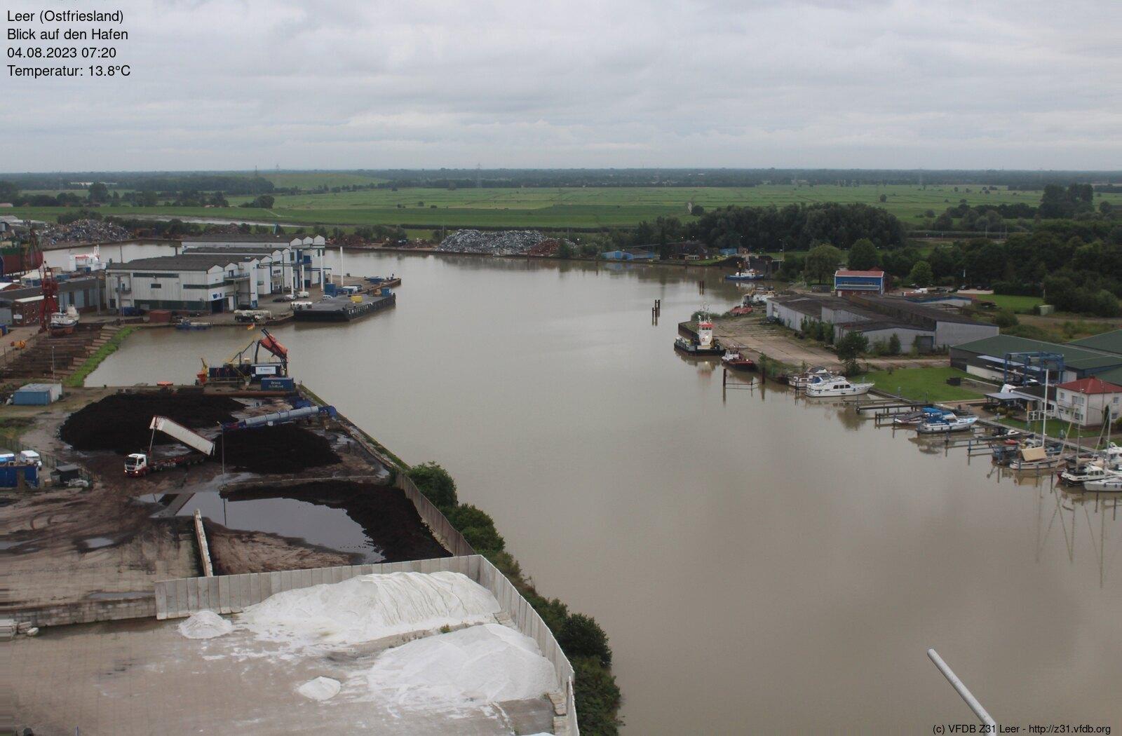 Webcam Leer Hafen (zum Vergrößern auf das Bild klicken)